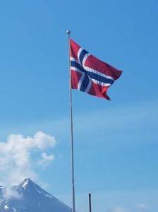 I dag flagga vi sjølvsagt på skulen i anledning unionsoppløysinga av 7.juni 1905